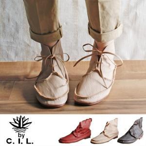 【送料無料】C.I.L. シーアイエル 4011 | ブーツ ショートブーツ 革靴 本革 レザー ゴートレザー ぺたんこ ローヒール クラフト 軽い  おしゃれ 疲れにくい|factorytocloset