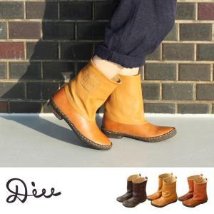 【送料無料】Diu ディウ 4540 | ブーツ ショートブーツ 革靴 オイルレザー レディース 本革 本皮 革 牛革 疲れない レースアップ ローヒール  おしゃれ 女性|factorytocloset