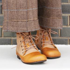 【送料無料】Diu ディウ 4597|ブーツ ショートブーツ レースアップ オブリーク 女性 楽 やわらか ブーティ ベルト  ゆったり 大きいサイズ ジュート素材|factorytocloset