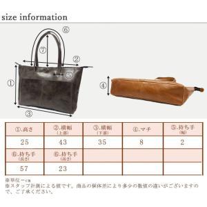 レザートートバッグ 119N7009 本革 カラー 革 A4 シンプル 大容量 軽い 軽量 カジュアル ビジネス 社会人 factorytocloset 07