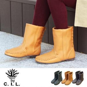 【送料無料】C.I.L. 407 | ブーツ ショートブーツ レザー 本革 革靴 疲れない フラット レディース コンフォート モカシン ローヒール おしゃれ 疲れにくい|factorytocloset