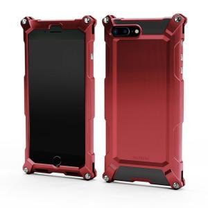 Quattro for iPhone7Plus HD シャイニーレッド 超々ジュラルミン|factron