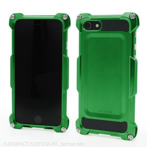 FACTRON Quattro for iPhone8 HD スプリンググリーン ジュラルミン  FA-M-649|factron