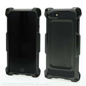 FACTRON Quattro for iPhone8 HD BLACK on BLACK 超々ジュラルミン FA-M-651|factron
