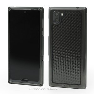 FACTRON SIMPLEX for AQUOS R3【SH-04L,SHV44,R3】Black on BlackCarbon 超々ジュラルミン FA-M-778|factron