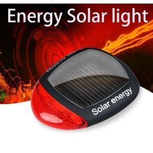 得々セール コンパクトでソーラー発電式 LED自転車テールライト ソーラー 自転車ライト テールランプ 自転車LEDライト 自転車バックライト 自転車テールランプ