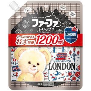 ファーファ 柔軟剤 大容量 トリップ  ロンドン イングリッシュローズティーの香り 詰め替え 1200ml|fafa-online