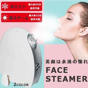 フェイススチーマー 美顔器 フェイシャルスチーマー 温冷式 エステ 乾燥肌対策 保湿