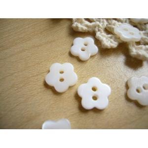 貝ボタン シェルボタン (淡水・お花Lサイズ)5個|fairy-lace