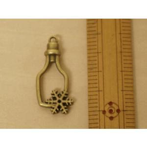レジン枠 空枠 レジンパーツ (ボトル/雪の結晶) アンティークゴールド色|fairy-lace|02