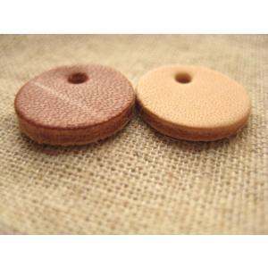 手芸 革タグ 50枚セット (丸)|fairy-lace