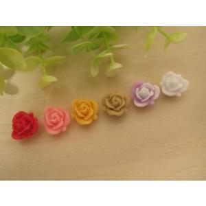 【手芸】カボション 薔薇のデコパーツ、パーツ、貼り付けパーツ(ハイブリットティーローズ)|fairy-lace