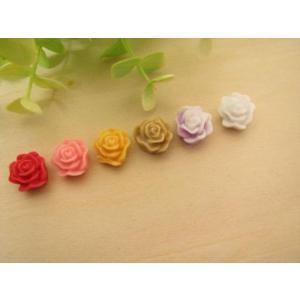 【手芸】カボション 薔薇のデコパーツ、パーツ、貼り付けパーツ(ノアゼットローズ) 1個売り|fairy-lace
