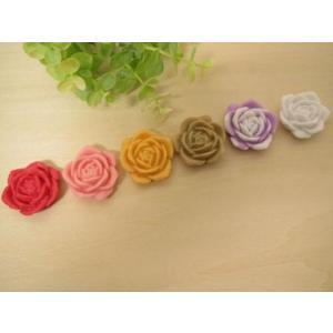 カボション 薔薇のデコパーツ、パーツ、貼り付けパーツ、ビックサイズ(イングリッシュローズ)6色セット【手芸】|fairy-lace