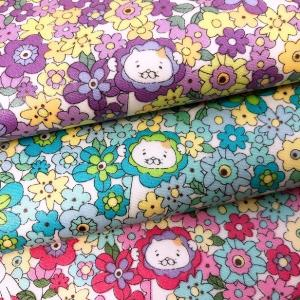 お花畑でかくれんぼするくまが可愛い人気のcolony Polar bearシリーズがラミネート生地に...