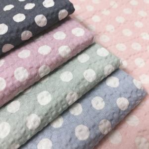 リップル生地 生地 しろくまファミリー 綿100% 50cm単位|fairy-lace