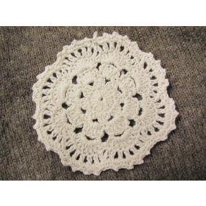 手編みのモチーフ(お花) fairy-lace