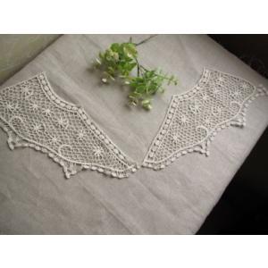 SALE!アンティーク風綿ケミカル襟レース、衿レース、付け襟(ノワール)|fairy-lace