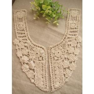 SALE!アンティーク風綿ケミカル襟レース、衿レース、付け襟(カソナード)|fairy-lace