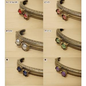 手芸 お花の玉付き がま口 口金 小 12.6cm カン付き 縫いつけタイプ|fairy-lace|02