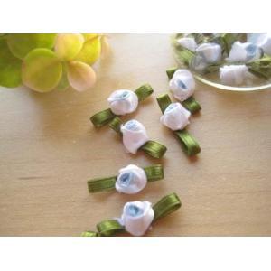 葉付巻き薔薇(プチローズ・スカイブルー)10個セット|fairy-lace