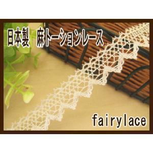 手芸 日本製 麻 トーションレース (シンシア)|fairy-lace