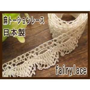 日本製 麻トーションレース (フューシャ) カット売り|fairy-lace