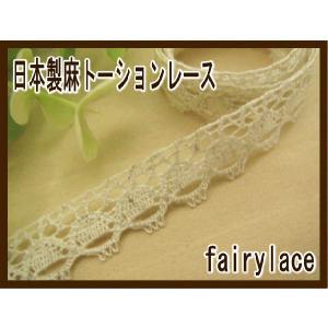 日本製 麻 トーションレース (リブレット) カット売り|fairy-lace