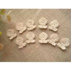 手芸 ケミカルレースワッペン(薔薇)10枚セット|fairy-lace