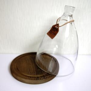 ガラスドーム ガラスケース ディスプレイドーム ダルトンドームDL 木製台座付き Lサイズ|fairy-land
