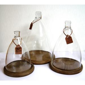 ガラスドーム ガラスケース ディスプレイドーム ダルトンドームDS 木製台座付き Sサイズ|fairy-land