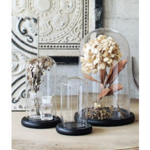 ガラスドーム ガラスケース ディスプレイドーム ロマンドームM 木製台座付き|fairy-land