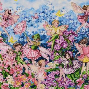 お花の世話をするお花の妖精たち。 シシリー・メアリー・バーカーのお花とお花の妖精がモチーフのデザイン...
