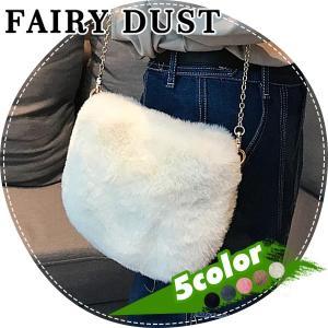 サイズ:縦約16cm×横約20cm×マチ約5cm 秋冬必須アイテムのファーバッグ。 手ざわりも、眼に...