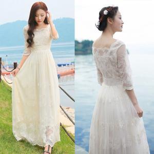 ウェディングドレス ウェディングドレス カラー 花嫁二次会 ...