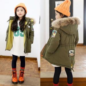 子供ジャケット ファーコート モッズコート子供コートモッズコート 女の子 アウター ロングルコート ファー付き ポンポン かわいい 子供服中綿コー
