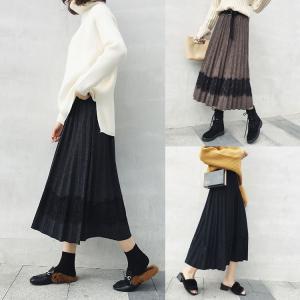 ウエスト:62-92cm スカート丈:75cm 色:コーヒー, ブラック, ダークグレー