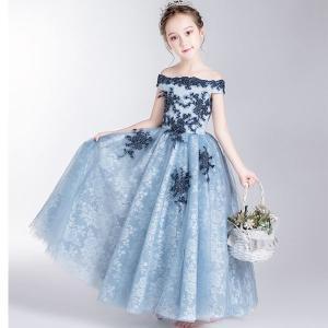 子供ドレス ロング ピアノ発表会 チュール ワンピース 子どもドレス フォーマル 七五三 ジュニアド...