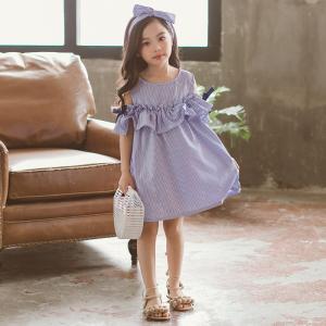 c63ae02657c99 子供服 オフショルダー 女の子 キッズ 可愛い 春夏 ストライプ 発表会  卒園式 入学式 パーティ 子供ドレス ワンピースドレス