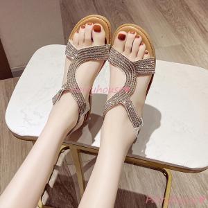 サンダル レディース 履きやすい 夏 サンダル ストラップサンダル 厚底靴 ウェッジソール グラディ...