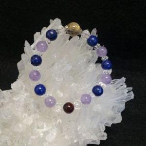 金運UP ルチル&パープル系ブレス|fairyselection