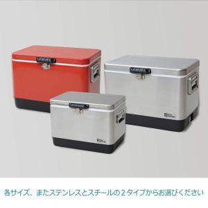テントファクトリー クーラーボックス メタルクーラー スチール ボックス 51L RED レッド メ...