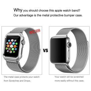 Aifulo for Apple Watch 38mm バンド, ミラネーゼループ アップルウォッチ...