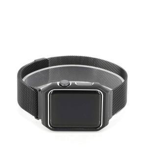アップルウォッチ/Apple watch用交換バンド ミラネーゼループ ステンレスメッシュ 本体保護...