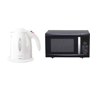 セット販売アイリスオーヤマ 電気ケトル ホワイト IKE-1001-W & アイリスオーヤマ 電子レ...