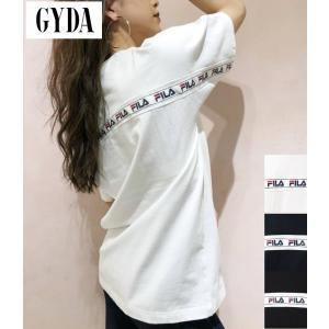 ジェイダ GYDA FILA BACK LINE BIG Tシャツ 半袖 コラボ BIGT オーバー...