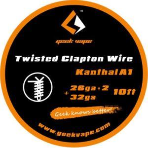 Geekvape Twisted Clapton Wire 26G×2+32G kanthal A1 MOD RDA RBA coil 電子タバコ VAPE MOD《ゆうパケット対応》