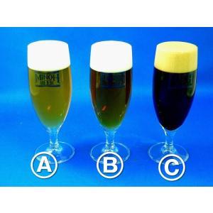 生グラスビール3種 B - ハーフ&ハーフ 食品サンプル|fakefoodjapan
