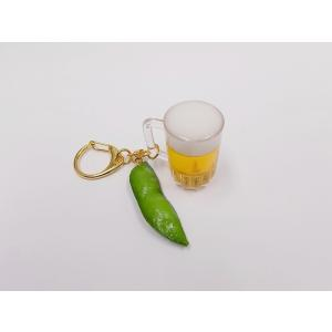 ビール・ミニ&枝豆付 キーホルダー|fakefoodjapan