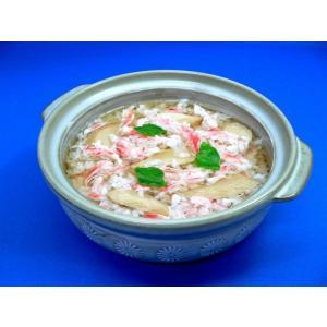 かにとあわび茸の雑炊 食品サンプル|fakefoodjapan